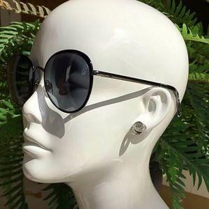 CHANEL Round Black Sunglasses.$600